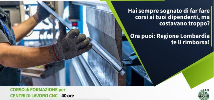 CORSO DI FORMAZIONE PER CENTRI DI LAVORO CNC